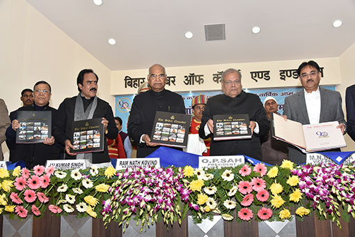 Shri Ram Nath Kovind H.E. Governor of Bihar releasing the Coffee Table Book on the eve of 89th AGM on 29th December, 2016